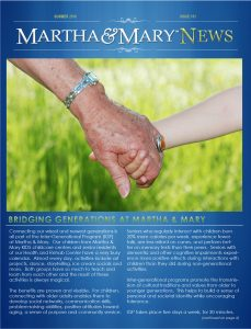 Martha & Mary Newsletter – Summer 2016