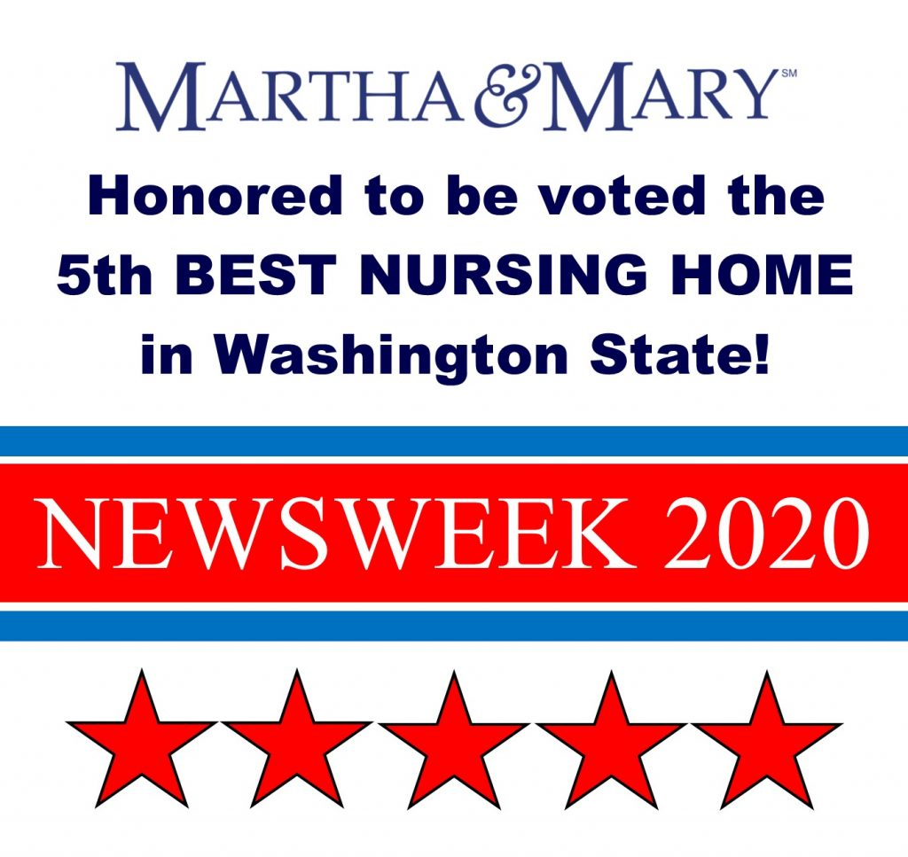 Martha & Mary Voted 5th Best Nursing Home!